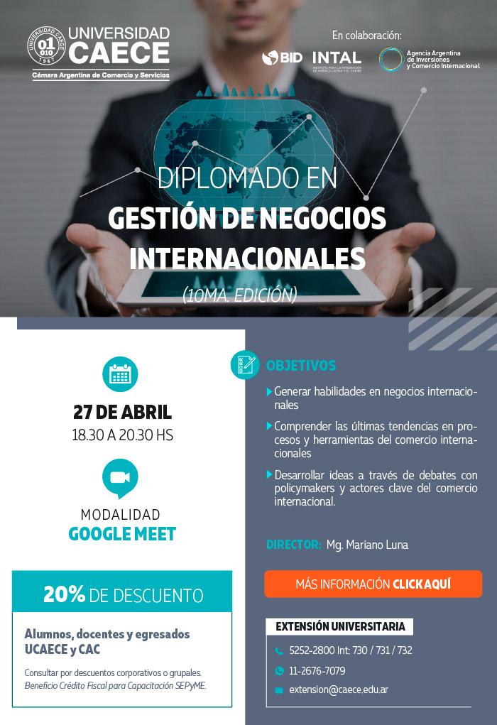 Diplomado en negocios internacionales de la Unversidad CAECE