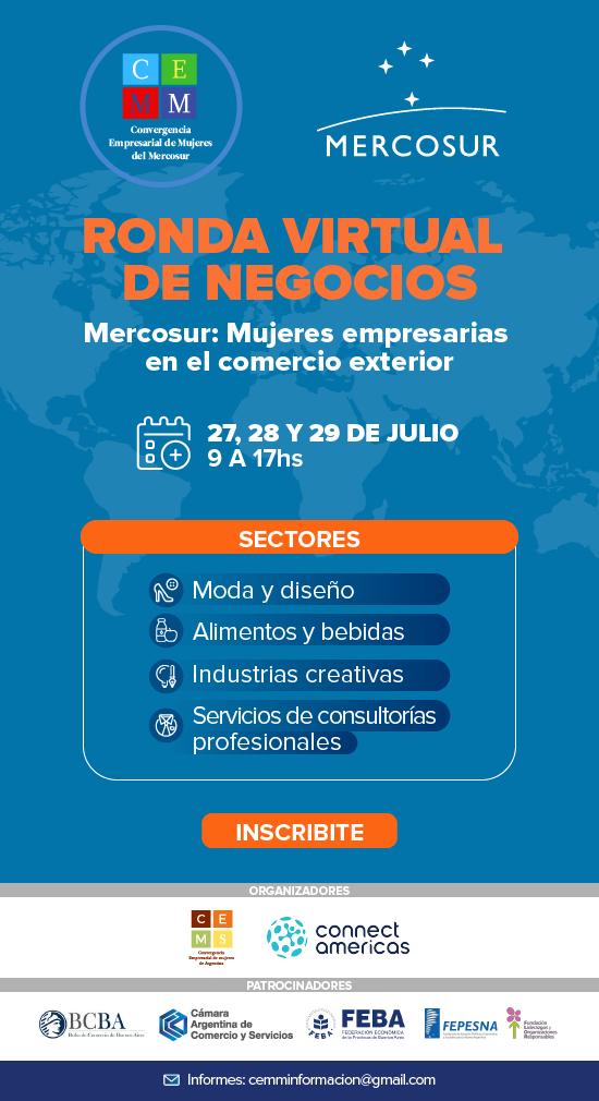 """Ronda virtual de negocios """"Mercosur: Mujeres empresarias en el comercio exterior"""""""